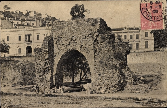Ak Bougie Bejaia Algerien, La Porte Sarrazine