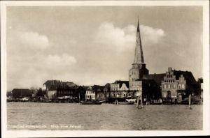 Ak Travemünde Lübeck Schleswig Holstein, Blick vom Priwall, Kirche