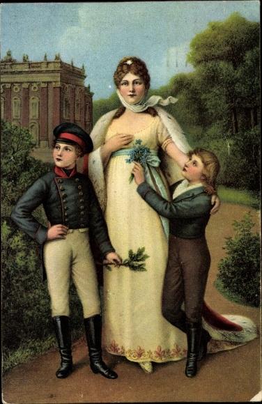 Künstler Ak Lotzmann, Paul, Königin Luise von Mecklenburg Strelitz, Luise von Preußen, Sanssouci