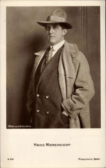 Ak Schauspieler Hans Mierendorf, Portrait, PH K 251