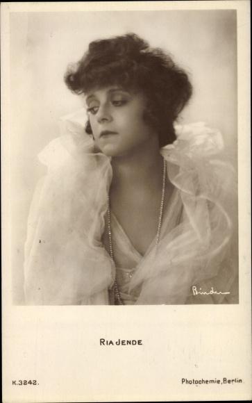 Ak Schauspielerin Ria Jende, Portrait, PH K 3242