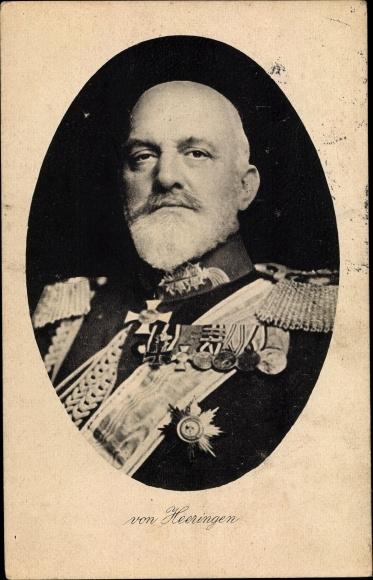 Ak Generaloberst Josias von Heeringen, Portrait, Uniform, Orden