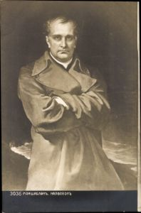 Künstler Ak Standportrait von Napoleon Bonaparte, Kaiser Napoleon I.