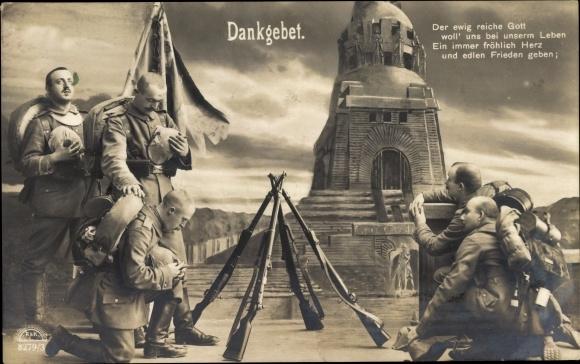 Ak Dankgebet, Soldaten, Der ewig reiche Gott, RKL 8279 3