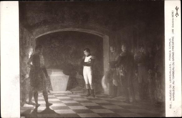 Künstler Ak Camus, Ponce, Napoleon au Tombeau du Grand Frédéric