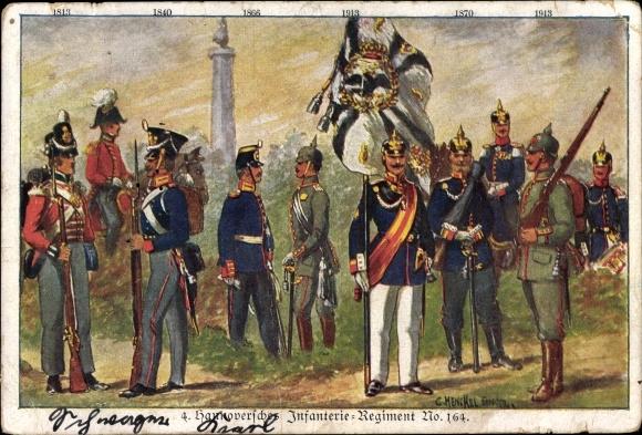 Regiment Künstler Ak Henckel, Carl, 4. Hannoversches Infanterie Regiment No. 164