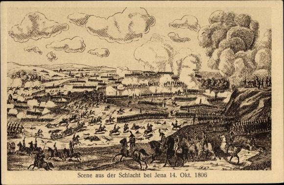 Künstler Ak Szene aus der Schlacht bei Jena 14. Oktober 1806