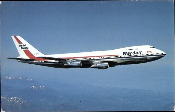 Ak Wardair Canada, Boeing 747, Passagierflugzeug