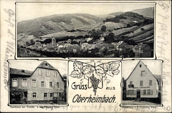 Ak Oberheimbach Rheinland Pfalz, Handlung von J. Eichberg, Gasthaus zur Traube