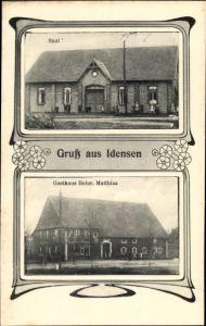 Ak Idensen Wunstorf Niedersachsen, Gasthaus Heinr. Matthias, Saal