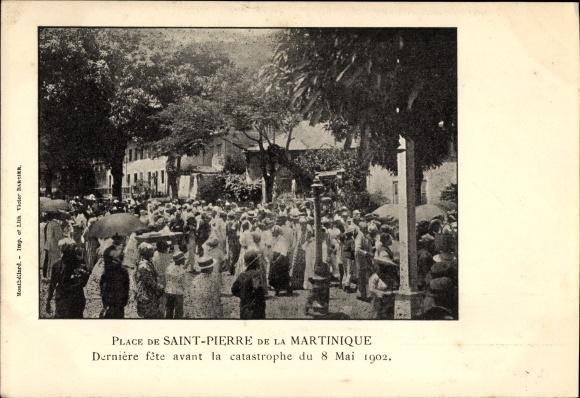Ak Saint Pierre Martinique, Dernière fête avant la catastrophe du 8 Mai 1902