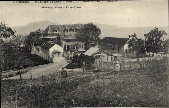 Ak Martinique, Fort de France, Maison du Gouverneur à Bellevue