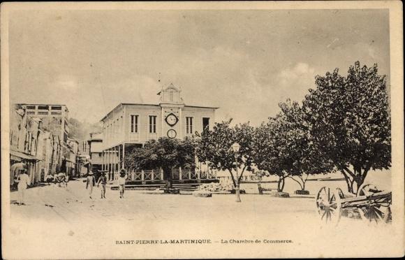 Ak Saint Pierre La Martinique, La chambre de Commerce