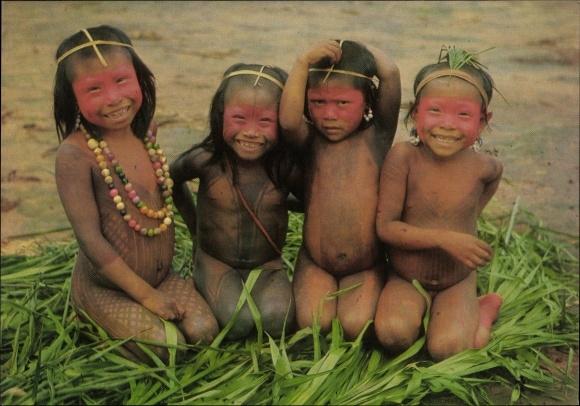 Ak Französisch Guayana Guyane Francaise, Indiens à poil du Haut Oyapock et de Tumuc Humac