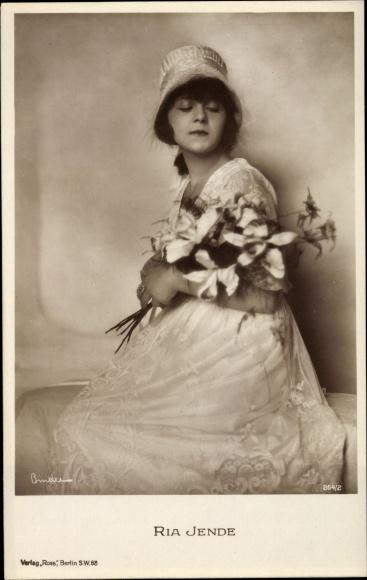 Ak Schauspielerin Ria Jende, Portrait, Hut, Ross Verlag 264 2