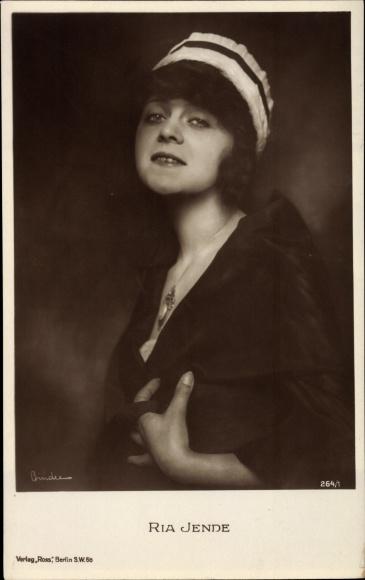 Ak Schauspielerin Ria Jende, Portrait, Ross Verlag 264 1
