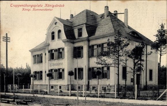 Ak Königsbrück in der Oberlausitz, Königliche Kommandantur