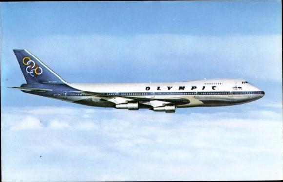 Ak Olympic Airways, Boeing 747 200 B, Jumbo Jet, Passagierflugzeug