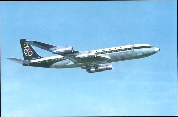 Ak Olympic Airways, Boeing 707 320, Super Fan Jet, Passagierflugzeug