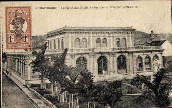 Ak Fort de France Martinique, Le Nouveau Palais de Justice