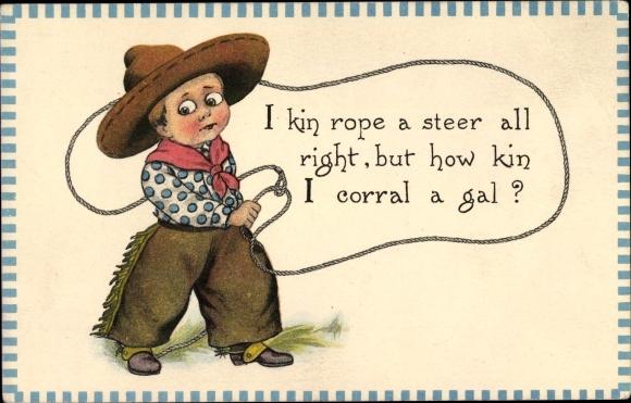 Ak Cowboy, Lasso, how kin I corral a gal?