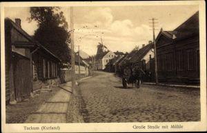 Ak Tukums Tuckum Lettland, Große Straße m. Mühle
