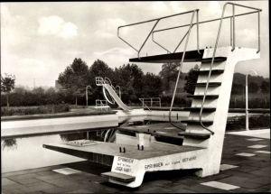 Ak Ramsdorf Velen Münsterland, Sprungturm im Schwimmbad