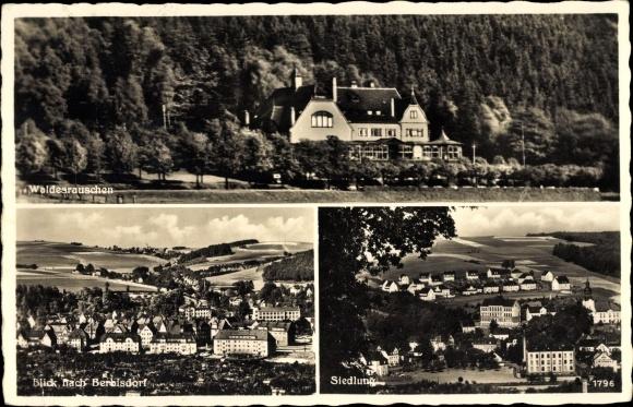 Ak Einsiedel Chemnitz in Sachsen, Waldesrauschen, Berbisdorf, Siedlung