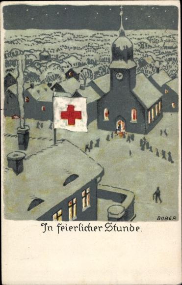 Künstler Ak Bober, In feierlicher Stunde, Deutsches Rotes Kreuz, Kirche