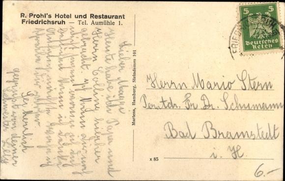 Ak Friedrichsruh Aumühle, Hotel und Restaurant 1