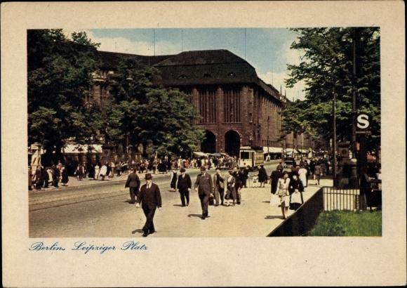 Ak Berlin, Leipziger Platz, Straßenpartie 0