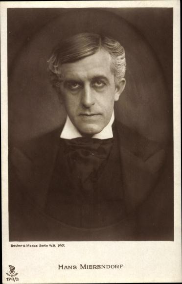 Ak Schauspieler Hans Mierendorf, Portrait, RPH 178 3