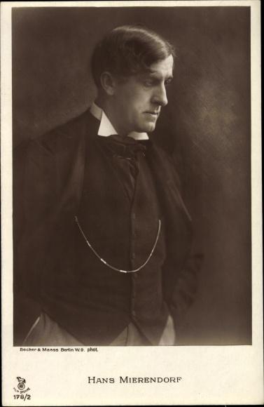 Ak Schauspieler Hans Mierendorf, Portrait, RPH 178 2