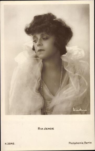 Ak Schauspielerin Ria Jende, Portrait, PH K 3242 0