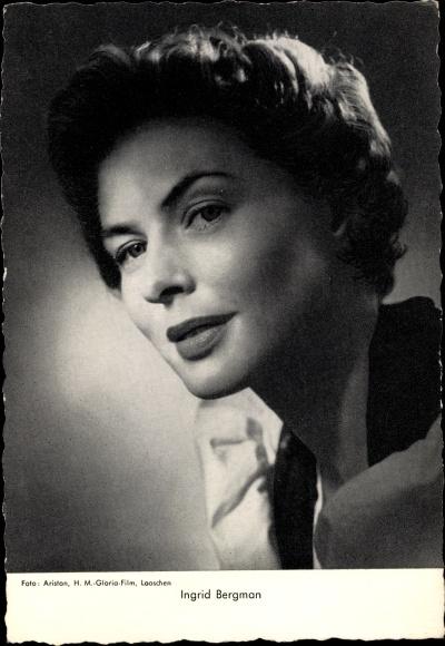 Ak Schauspielerin Ingrid Bergman, Portrait 0