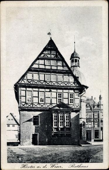 Ak Höxter in Nordrhein Westfalen, Rathaus 0