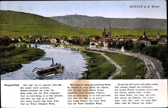 Lied Ak Höxter in Nordrhein Westfalen, Weserlied, Gesamtansicht 0