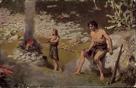 Künstler Ak Leinweber, R., Die Heilige Schrift, Serie I, Bild 2, Kain und Abel 0