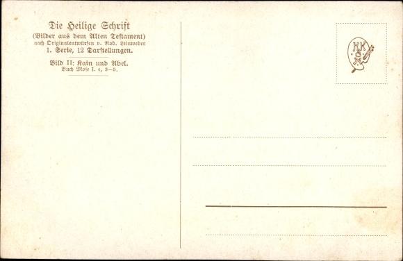Künstler Ak Leinweber, R., Die Heilige Schrift, Serie I, Bild 2, Kain und Abel 1