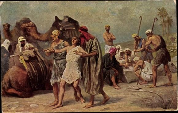 Künstler Ak Leinweber, R., Die Heilige Schrift, Serie I, Bild 12, Joseph wird verkauft 0