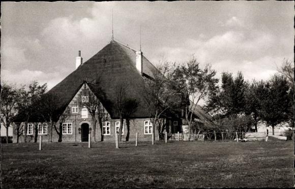 Ak Sankt Peter Ording in Nordfriesland, Hauberg Eiderstedter Bauernhaus 0