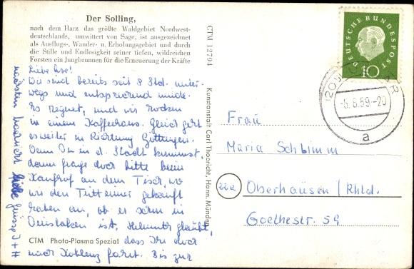 Ak Dassel, Im Sollinger Walde, Am Forsthaus Lakenhaus 1
