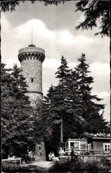 Ak Sieber Herzberg am Harz in Niedersachsen, Berghof Baude Großer Knollen 0