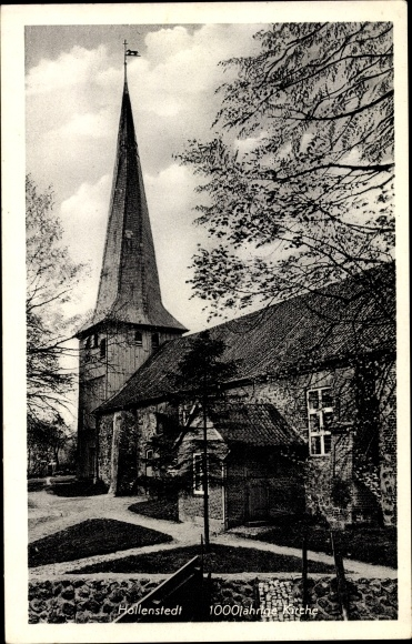 Ak Hollenstedt Salzgitter in Niedersachsen, Tausendjährige Kirche 0