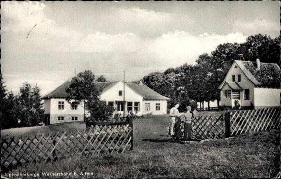 Ak Wernershöhe Adenstedt b. Alfeld, Jugendherberge, Zaun 0
