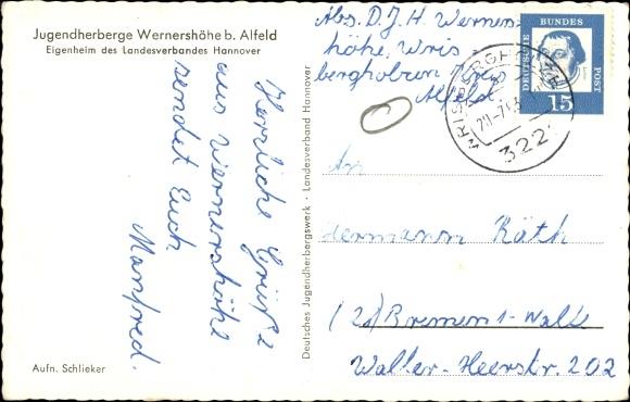 Ak Wernershöhe Adenstedt b. Alfeld, Jugendherberge, Zaun 1