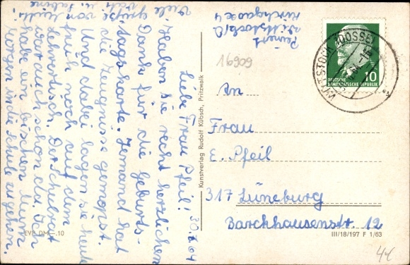 Ak Wittstock Dosse in der Ostprignitz, Amtshof, Stadtmauer, Amtsturm, St. Marien 1