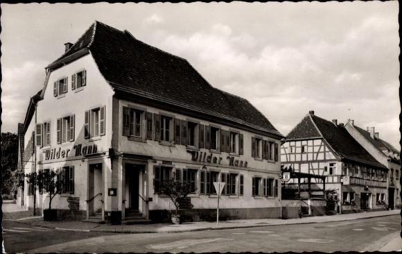 Ak Bad Bergzabern Rheinland Pfalz, Böhämmerstraße, Wilder Mann 0