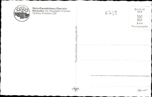 Ak Elmstein Rheinland Pfalz, Naturfreundehaus 1