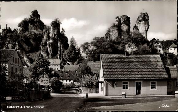 Ak Tüchersfeld Pottenstein Oberfranken, Dorfpartie 0